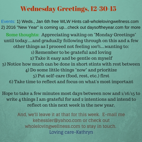 Wednesday Greetings, 12-30-15-1