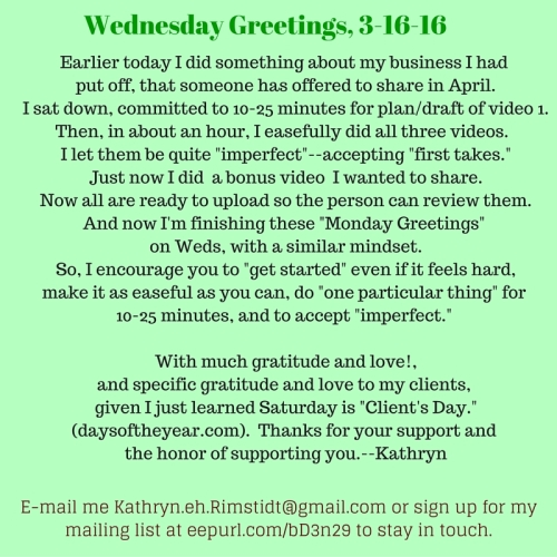 Weds Greetings, 3-16-16
