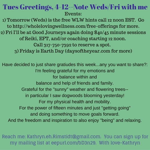 4-19-16 Tues Greetings