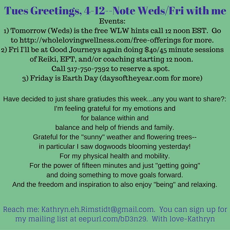 4-19-16 Tues Greetings