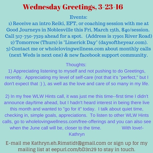 Weds Greetings, 5-11-16